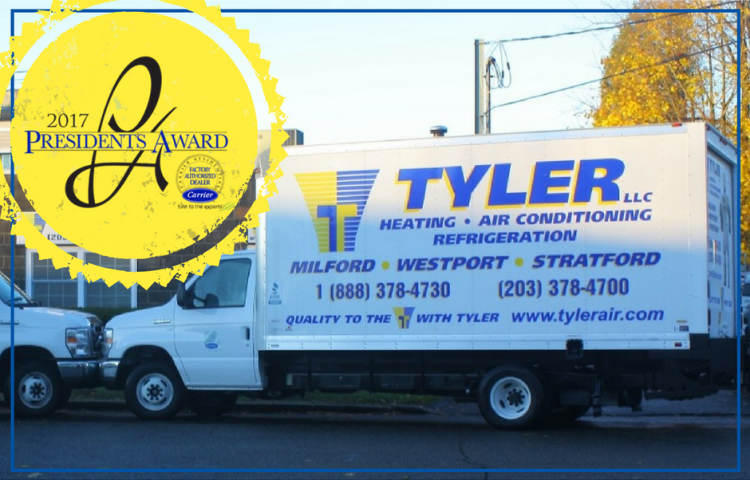Carrier President's Award | HVAC Services New Haven County | Tyler Heating & Air Conditioning