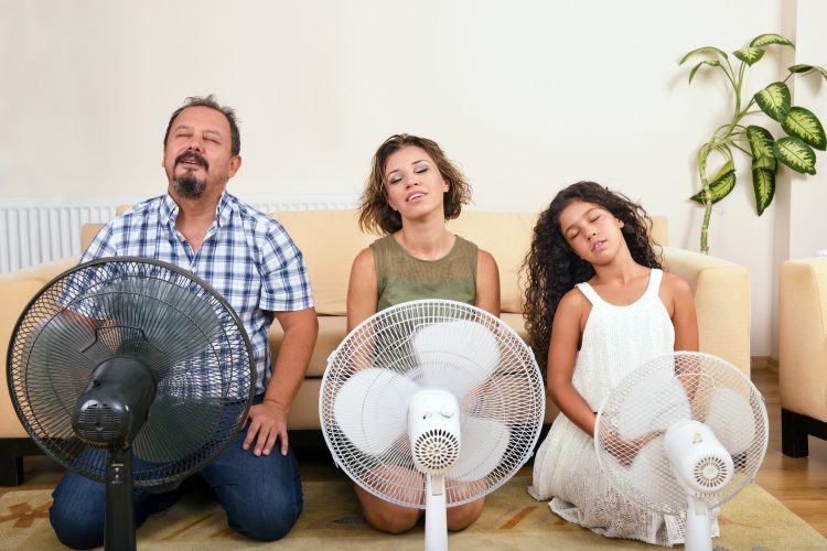 Family With Fans | Air Conditioning | AC Installation | HVAC Services
