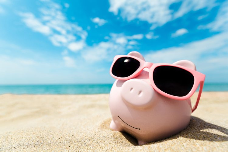Piggy Bank Beach | Save Money | Summer Sale | Air Conditioner Installation | HVAC Services