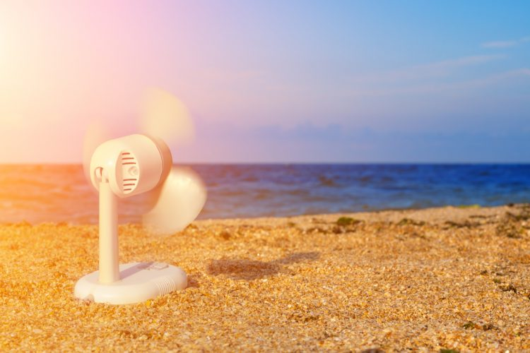 Fan on the Beach | Air Conditioning | Summer AC Repairs