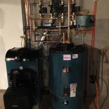 Boiler-and-Indirect,-Burnham-85_-V8H3-Oil-Boiler-and-Burnham-Alliance-35-Gallon-Indirect-installed-in-Monroe,-CT-