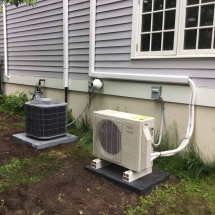 Carrier-Condenser-and-Fujitsu-Ductless-Heat-Pump-Condenser,-Installed-in-Trumbull,-CT-